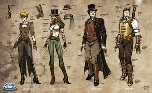 M steampunk sketches a by david nakayama
