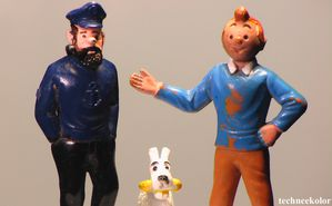 Tintin collection Esso 1973 vintage collector