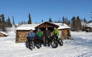 The 4 leaders at Rainy Pass Lodge