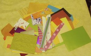 lot chut de papier pour scrap 3,50 euros le lot