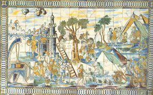 azulejo - singerie - XVIIème s0001