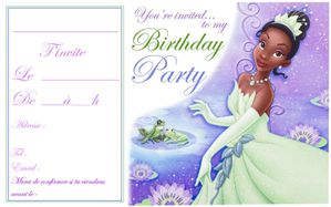 princess tiana party invitations[2]
