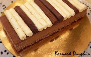 tarte piano aux 3 chocolats, 3, textures