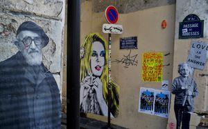 Pochoir de Brigitte Bardot à Montmartre 2012
