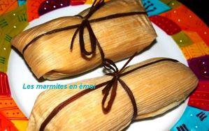 Les marmites en émoi - Tamales aux poires et chocolat