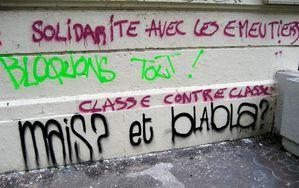 solidarité avec les émeutiers