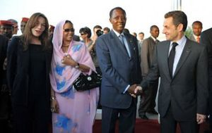 Sarko au Tchad 2008
