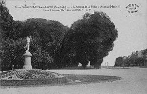 Statue l'AMOUR et la FOLIE Allée du BOULINGRIN, avenue hen