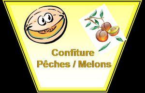 confiture de pêches melons