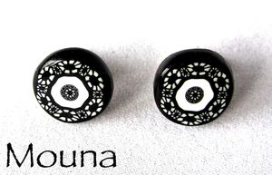 Boucles puces Black and white 6 DISPONIBLE: 9 euros.