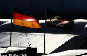 Red Bull - drapeaux allemand, F1