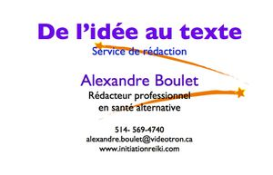Carte affaire rédaction