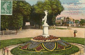 Statue l'AMOUR et la FOLIE Allée du BOULINGRIN et avenue Henri 2 dans le Parc du Château de Saint-Germain-en-Laye (78100)