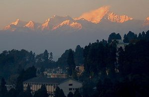 Sunset at Darjeeling