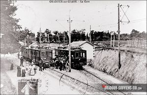 gare Oradour tramway pour Limoges 1912