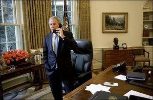 Bush Oval Office phone call (2)