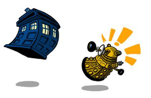 TARDIS vs DALEK by Sideways8Studios