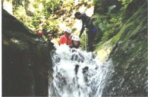 canyoning savoie Pussy La Léchere