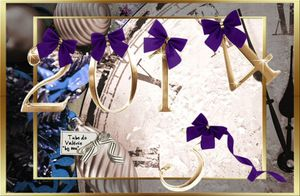 466-VBM ANNEE 2014 NOUVEL AN OR2 ET NOEUD VIOLET 04/01/14