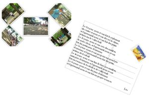 Carte postale Timbre-leo