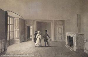 Louis XIV offre l'hospitalité à son cousin Jacques II Stuart roi d'Angleterre exilé et à sa famille