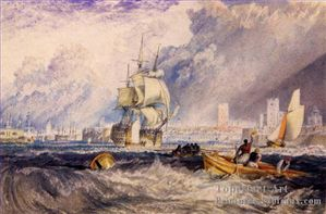 5-Portsmouth-Romantique-Paysage-Joseph-Mallord-William-Turn