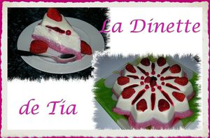 entremet chocolat blanc et fruits rouges