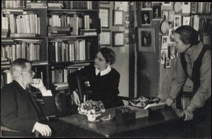 James Joyce with Sylvia Beach at Shakespeare & Co Paris 192