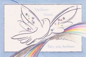 carte voeux.2010 colombe