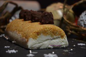 Buche chocolat blanc et truffes