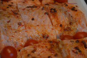 Saumon en croûte de pistache la marinade