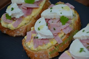 Tartine mais, jambon 3
