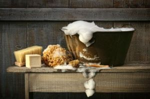 4585633-old-wash-tub-with-soap-on-rustic-bench.jpg
