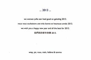 new year card 2013 2