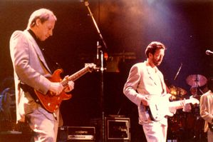 Mark Knopfler and Eric Clapton
