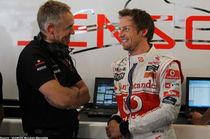 McLaren - Martin Whitmarsh, Jenson Button