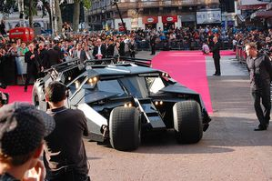 The Dark Knight Tumbler at European Premiere