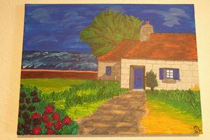 tableaux maison bord de mer