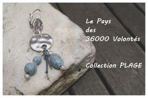 Boucles d'Oreilles Plage Blue jeans (2)