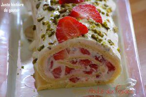 roulé fraises mascarpone