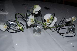 Centre De Table Noir Et Blanc