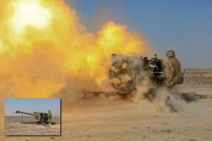 Soviet D-30 Howitzer in Afghanistan photo US Army