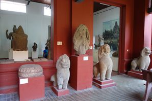 Le patio du Musée National à Phnom Penh