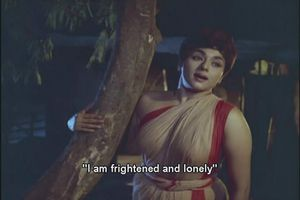 Meena frightened and lonely