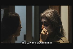 She saw the clown in him