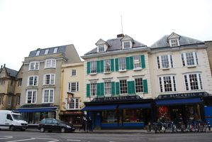 Oxford - Blackwell book shop et pub White Horse - Broad str