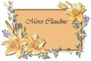 merci Claudine