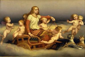 Freyja and cats and angels by Blommer