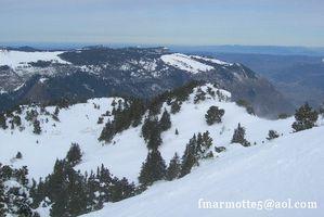 Moucherotte ski rando sommet sornin