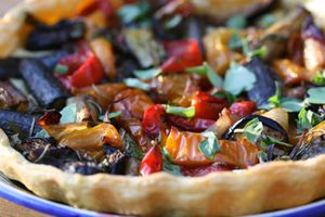 Tarte aux lgumes confits (2)